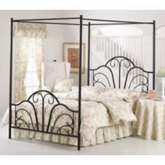 Hillsdale Dover Textured Black Bed