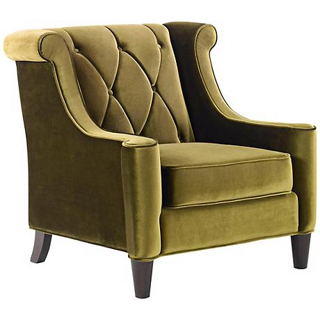 Barrister Green Velvet Club Chair