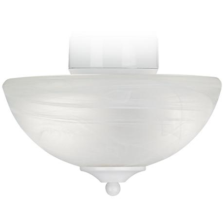 Energy Star® Pull Chain White Finish Alabaster Light Kit