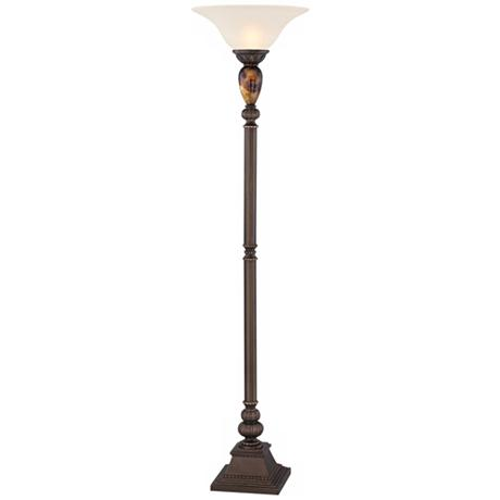 Kathy Ireland Mulholland Torchiere Floor Lamp