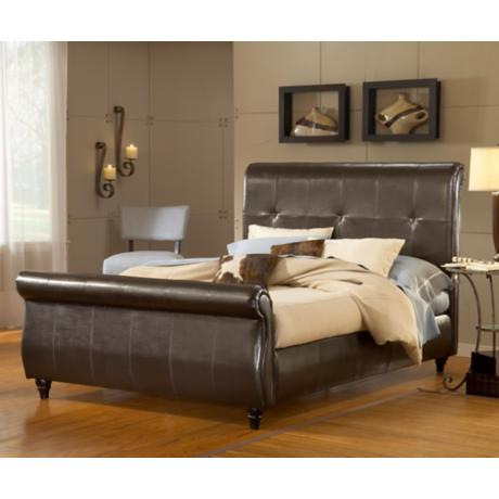 Hillsdale Fremont Brown Leather Bed