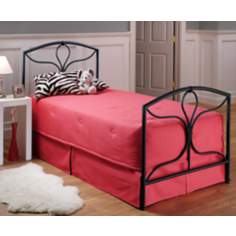Hillsdale Morgan Textured Black Bed (Twin)