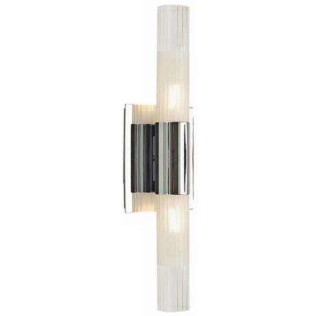 "Alico Regato Duo 18 1/2"" High Chrome Wall Sconce"