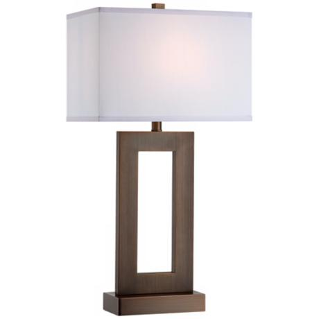 "Bronze Open Rectangle 30"" High Table Lamp"