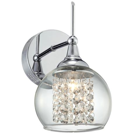 "Possini Euro Encircled Crystal 10"" High Wall Sconce"
