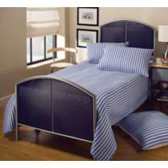 Hillsdale Universal Mesh Silver and Navy Bed (Twin)