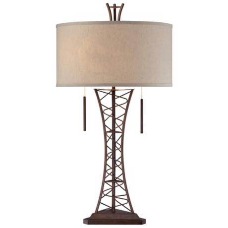 Industrial Lattice Truss Table Lamp