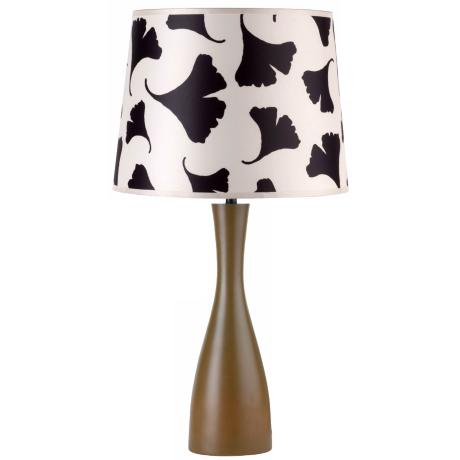 Lights Up! Black Ginko Shade Olive Oscar Table Lamp