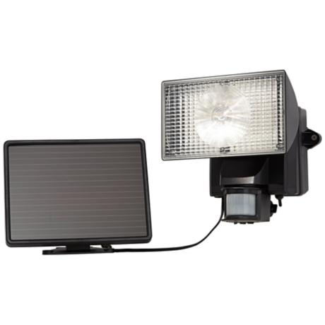 Black Solar Power Motion Sensor 80 LED Flood Light