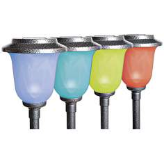 Solar Powered Color Changing Chalice Path Light