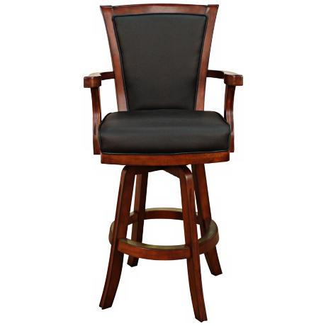 "American Heritage Auburn Brandy 30"" High Swivel Bar Stool"