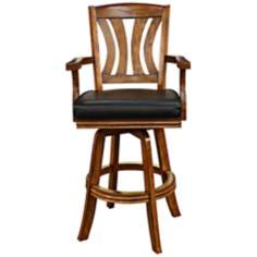 "American Heritage Bradbury Suede 30"" High Swivel Bar Stool"