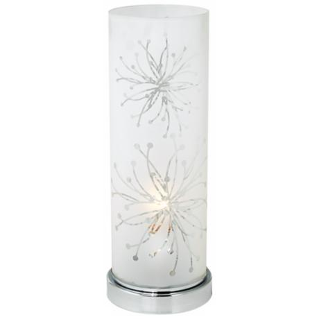 Frosted Glass Cylinder Accent Table Lamp