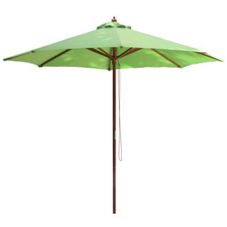 Lime Green Market Umbrella with Wooden Pole