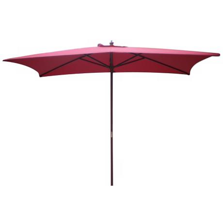 Rectangular Autumn Red Market Table Umbrella
