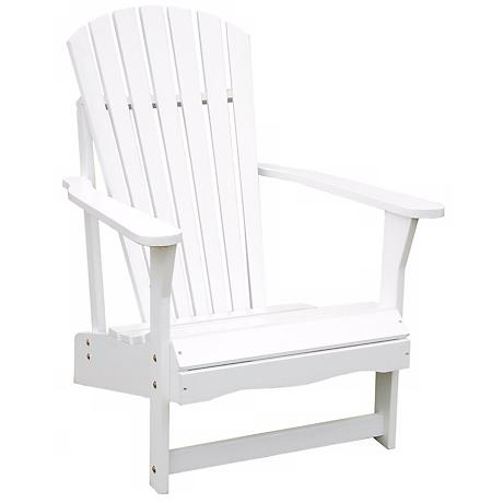 White Poplar Wood Adirondack Chair