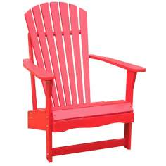 Red Poplar Wood Adirondack Chair