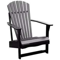 Black Poplar Wood Adirondack Chair