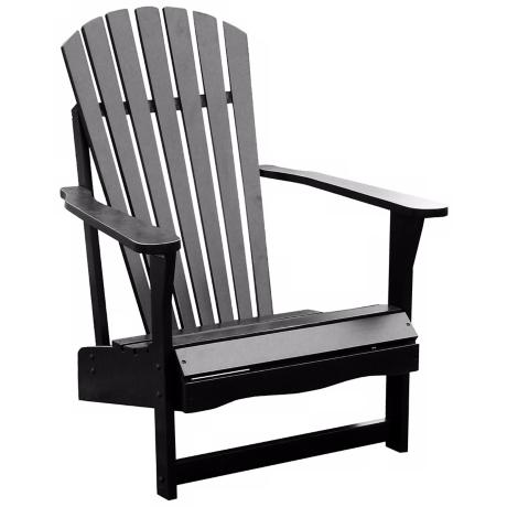 Black polyurethane finish  Solid wood construction  37 1 2 quot  high  28 1Adirondack Beach Chair Clip Art