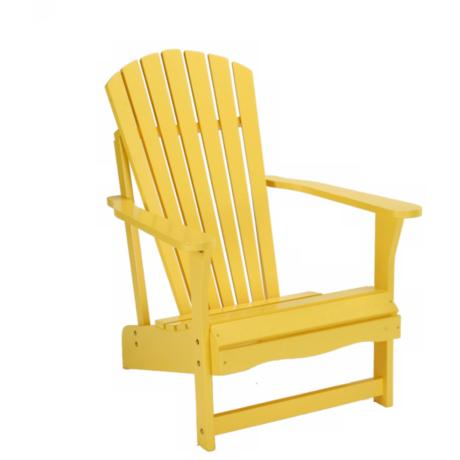 Yellow Poplar Wood Adirondack Chair