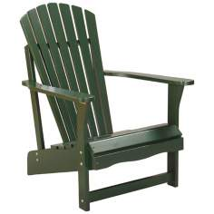 Green Poplar Wood Adirondack Chair