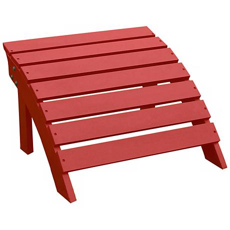 Adirondack Red Finish Wood Footrest