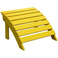 Adirondack Yellow Finish Wood Footrest
