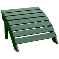 Adirondack Hunter Green Finish Wood Footrest