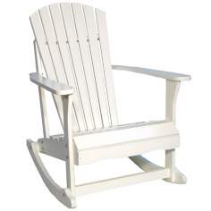 Adirondack White Finish Solid Wood Porch Rocker Chair