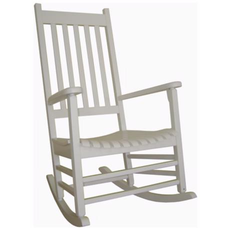 Solid Wood White Porch Rocker Chair