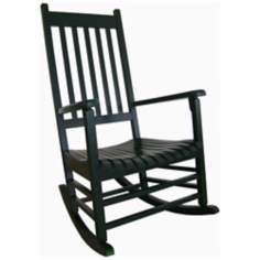 Solid Wood Black  Porch Rocker Chair