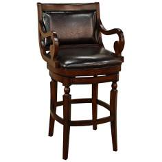 "American Heritage Hershey Suede 30"" High Swivel Bar Stool"