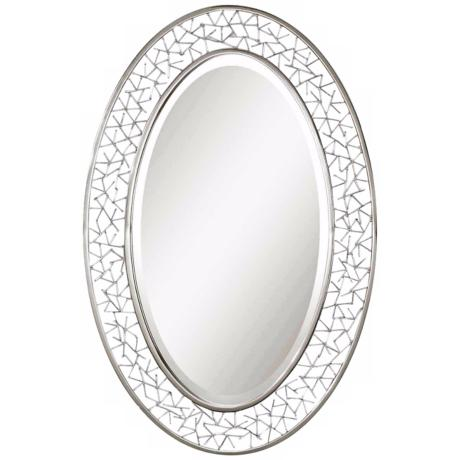 "Uttermost Branden 36"" High Oval Wall Mirror"