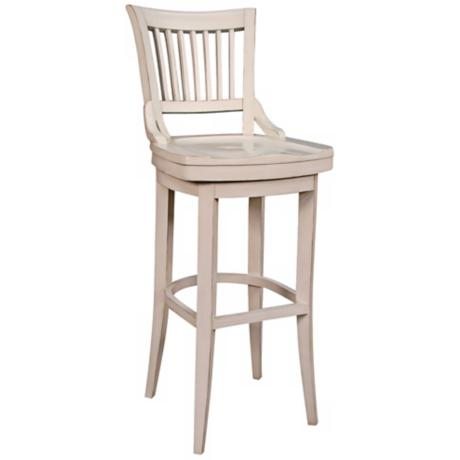 "American Heritage Liberty White 30"" High Swivel Bar Stool"