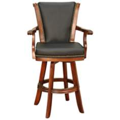 "American Heritage Napoli Brandy 30"" High Swivel Bar Stool"