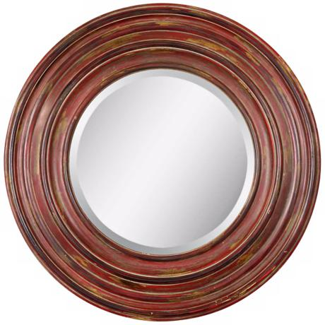 "Uttermost Elsmere Round 31 1/2"" High  Wall Mirror"