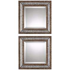 "Uttermost Set of 2 Norlina 18"" Square Wall Mirrors"