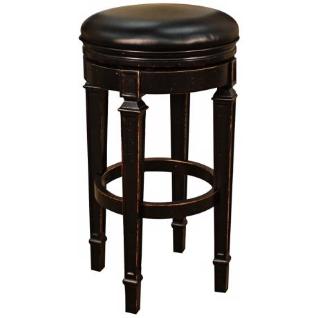 "American Heritage Oxford Black 30"" High Swivel Bar Stool"