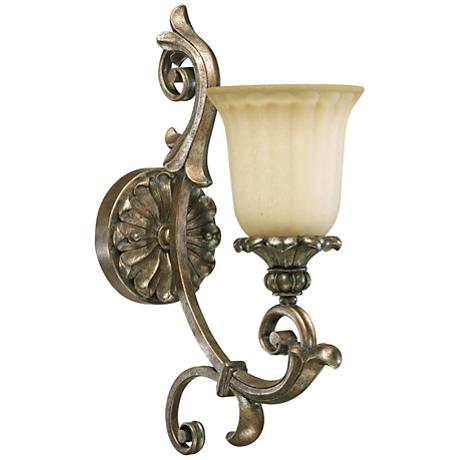 "Quorum Barcelona 17 3/4""H 1-Light Silver Wall Sconce"