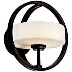 "Kichler Olsay 10"" Wide Bronze Wall Sconce"