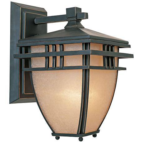 "Dayton 13"" High Aged Bronze Patina Outdoor Wall Light"