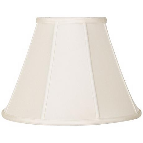 Eggshell Silk Empire Shade 7x14x10.5 (Spider)