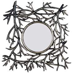 "Silvery Moon 30"" High Wall Mirror"