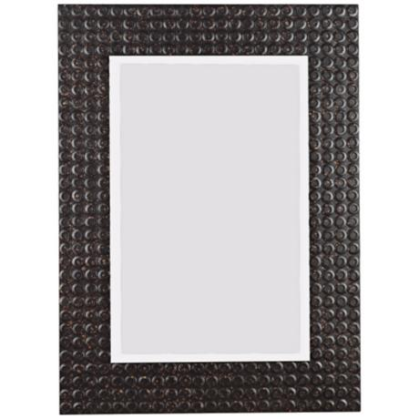 "Industrial Multi-Finish 32"" High Wall Mirror"