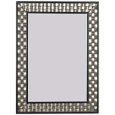 "Woven Champagne 38"" High Wall Mirror"