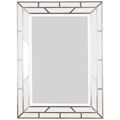 "Silver Web 38"" High Wall Mirror"