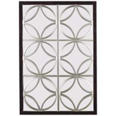 "Silver Trellis 39"" High Wall Mirror"
