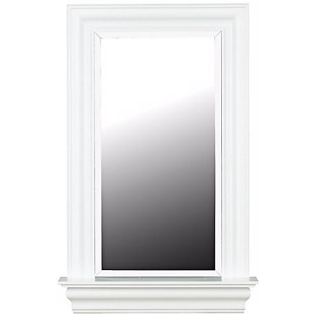 "Lucarne White Gloss 37"" High Wall Mirror"