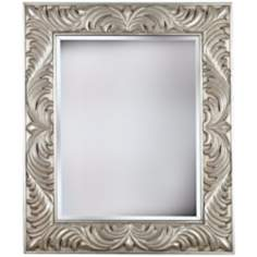 "Empress Gilded Silver 38"" High Wall Mirror"
