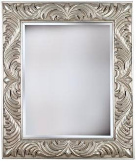 "empress gilded silver 38"" high wall mirror (t5043)"